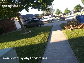 Yard Mowingin Wylie,75098,Lawn Care Service by Aby Landscaping, work completed in Jul , 2020
