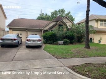 Yard Cuttingin Sugar Land,77479,Lawn Maintenance by Simply Mowed Service, work completed in Jul , 2020
