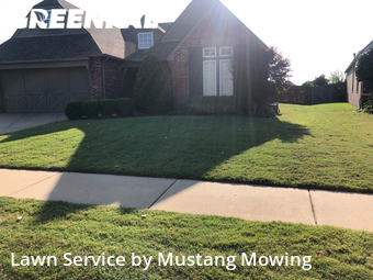 Lawn Mowingin Jenks,74037,Grass Cut by Mustang Mowing, work completed in Sep , 2020