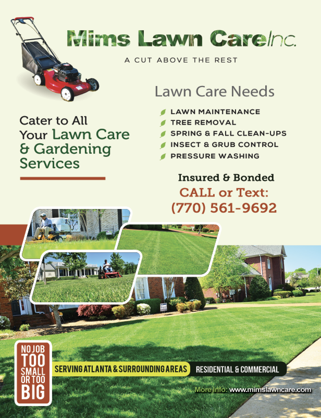 Get lawn care service in atlanta ga from mims lawn care for Lawn care companies
