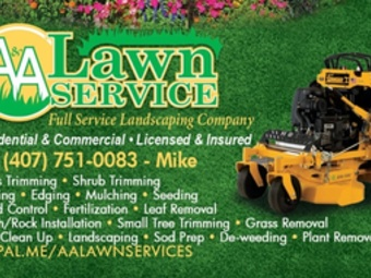 Yard mowing company in Oviedo, FL, 32765