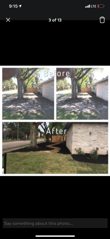 Yard mowing company in Houston, TX, 77091