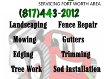 Yard mowing company in Fort Worth, TX, 76108