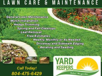 Yard mowing company in Rockwood, VA, 23236