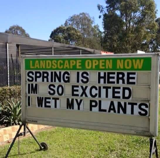 Landscaping Meme Advertising and marketing is a difficult part of business. But when you have a creative idea like this, it just goes to show, word will get around about your business.