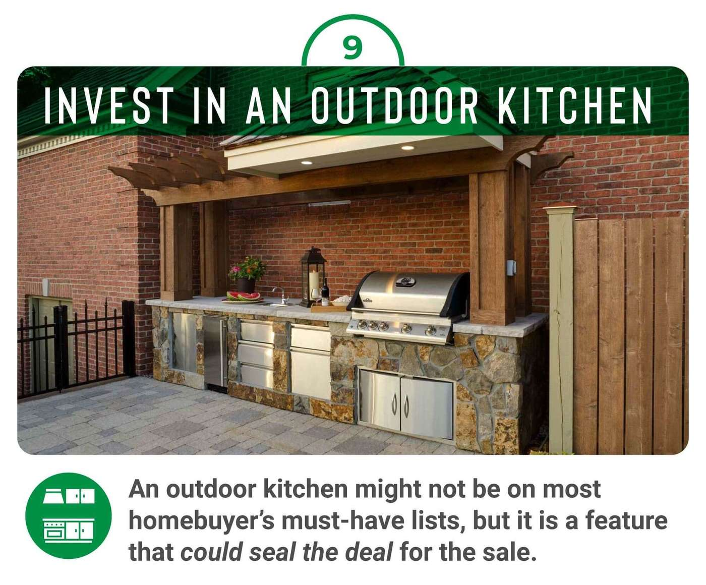 Invest in a backdoor kitchen