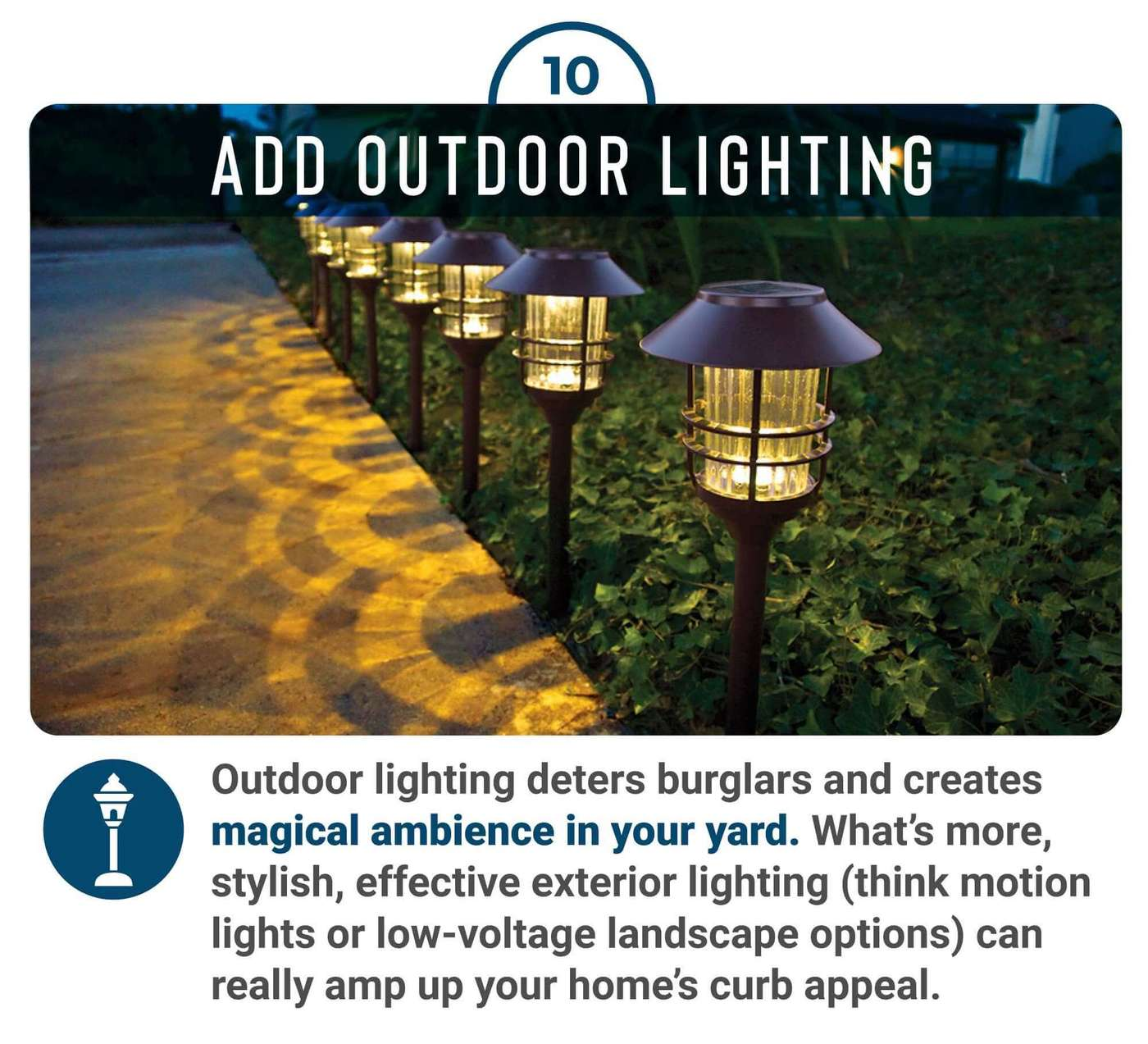 Add outdoor lighting to boost home value