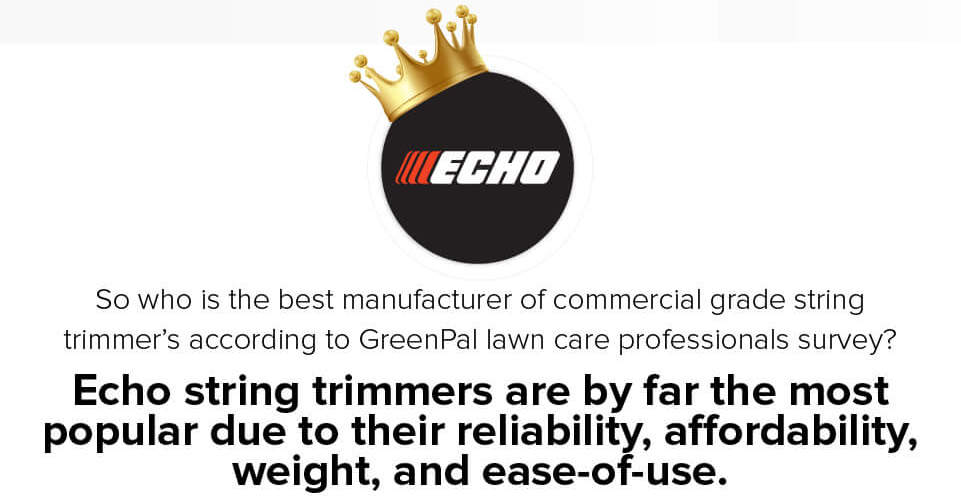 Echo voted as best string trimmer for commercial use