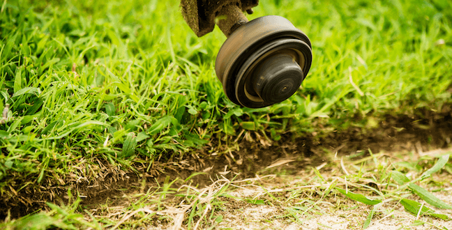 edging with commercial string trimmer
