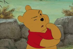 Pooh Bear thinking