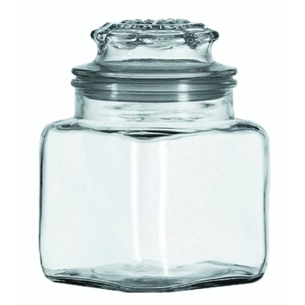 36 oz clear air tight glass jar stash heavyweight seal ebay. Black Bedroom Furniture Sets. Home Design Ideas