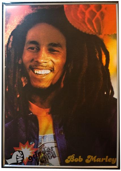 Bob Marley Poster Rasta One Love Reggae Free Plastic Frame 11 5 x 16