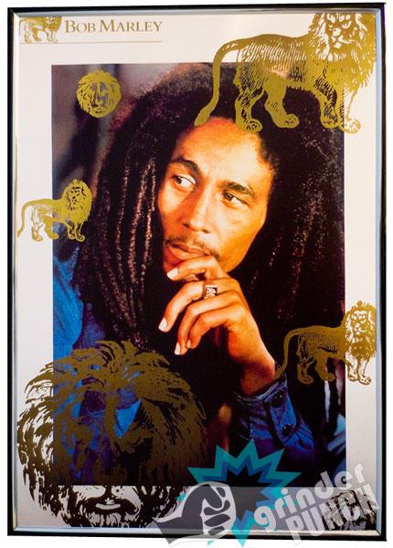 Bob Marley Poster Rasta Lion Reggae Free Plastic Frame 11 5 x 16