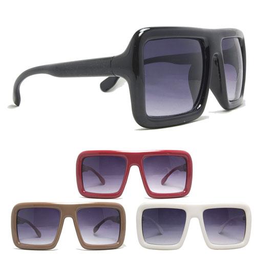 Extra Large Glasses Frame : Extra Large Square Frame Sunglasses Plastic Wayfarer Round ...