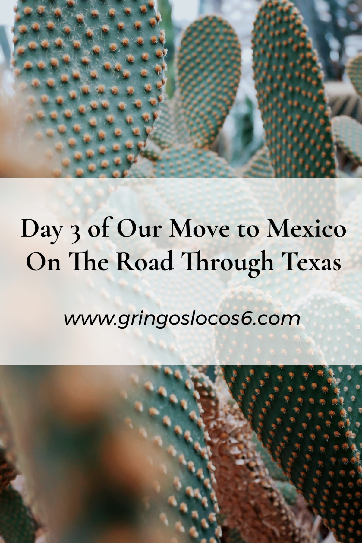 We are on the road through Texas in our 2000 mile move to Mexico. Stick around and share the adventure with us. This is just the beginning!