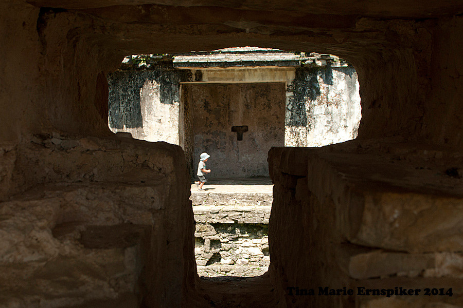Maya pyramids in Palenque Mexico