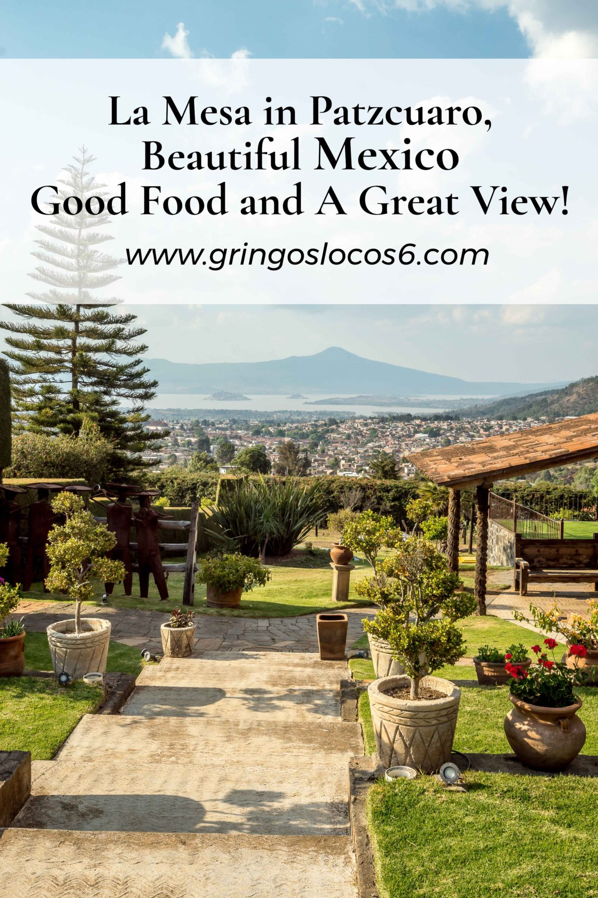 La Mesa has a restaurant, RV sites, an area for weddings or fiestas, and a small farm. We saw lots of baby animals and a very friendly and curious horse :-) La Mesa is located on a hill overlooking Patzcuaro and the island of Janitzio. The view is spectacular!