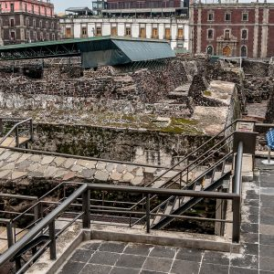 Templo Mayor, A Famous Archeological Site in The Middle of Mexico City