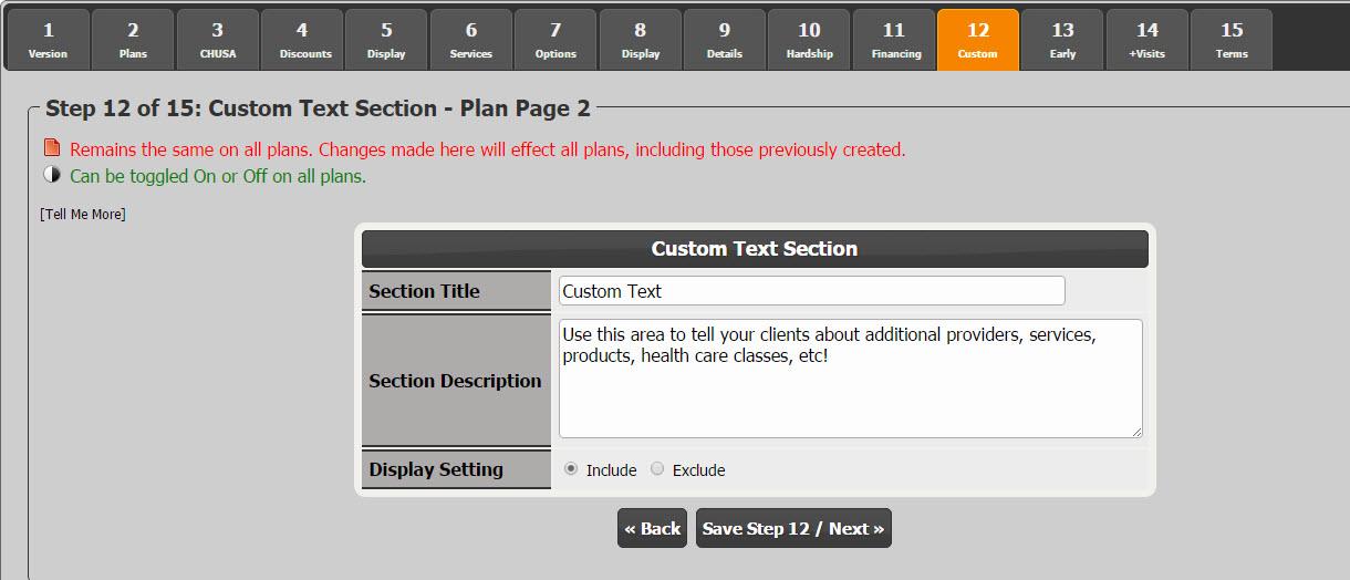 Setup: How do I complete the Cash Plan Calculator System
