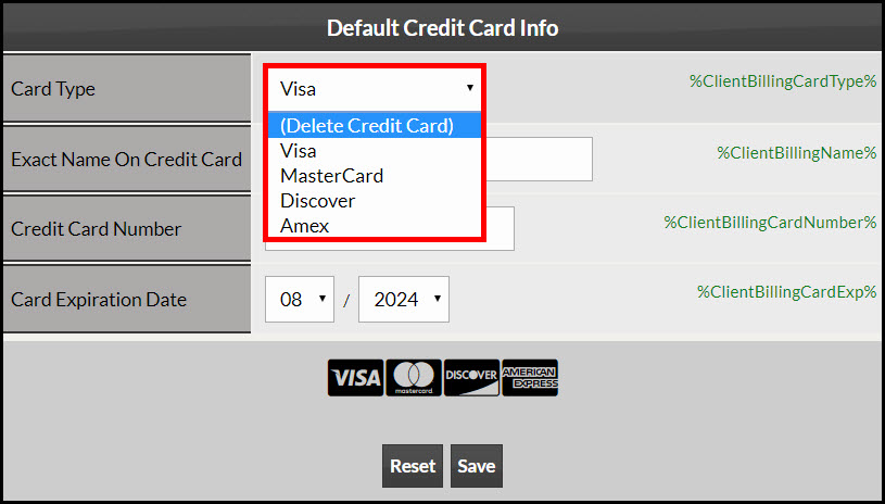 Credit Card Designating