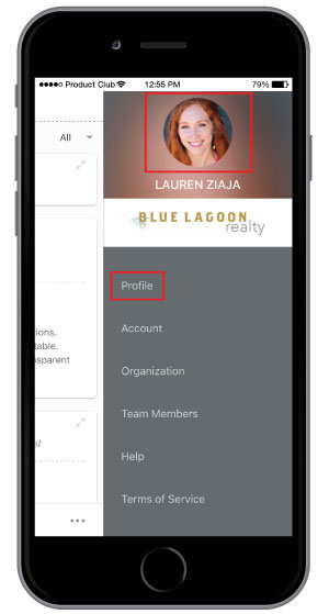uploading employee photo on employee recognition software mobile app