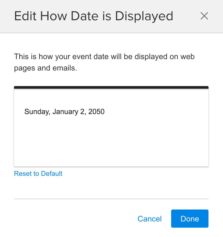 Edit Date