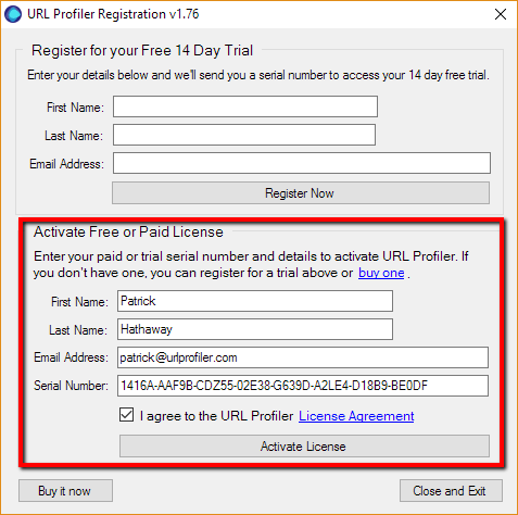 Activating Your Paid License | URL Profiler Knowledge Base