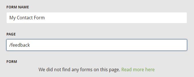 No Forms Found