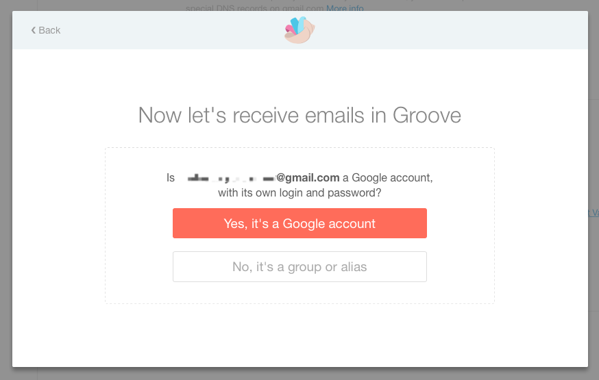 Forwarding from google apps gmail groove click yes its a google account to continue and then you will need to log in to that account in order to continue authorizing groove publicscrutiny Image collections