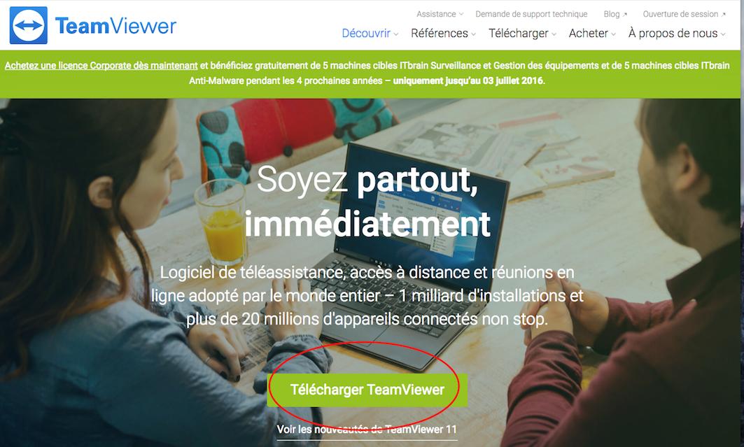 Télécharger TeamViewer (sur Mac) | agenda