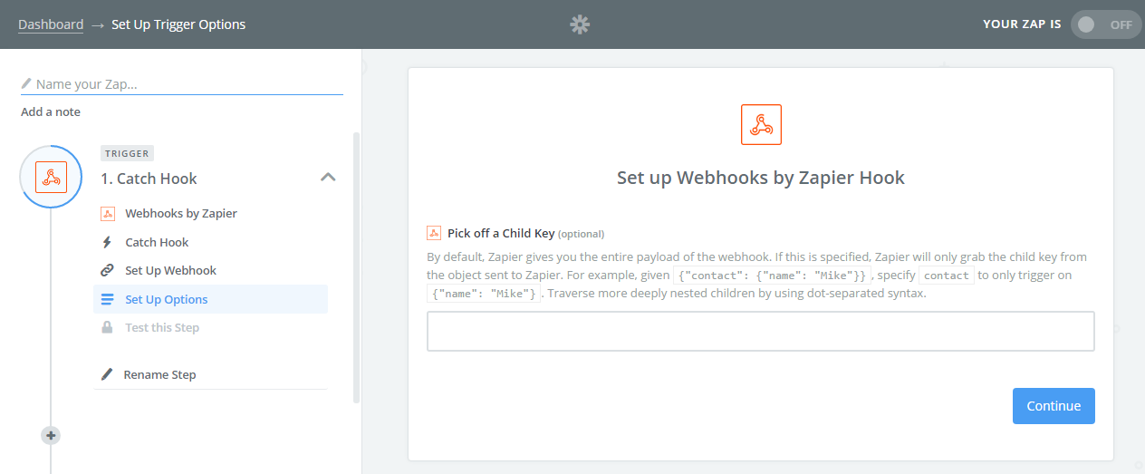 Webhook Child Keys