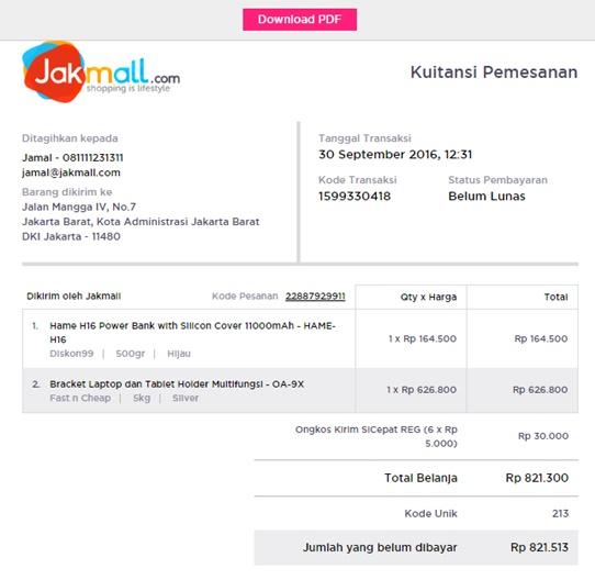 Cara Download Kuitansi Invoice