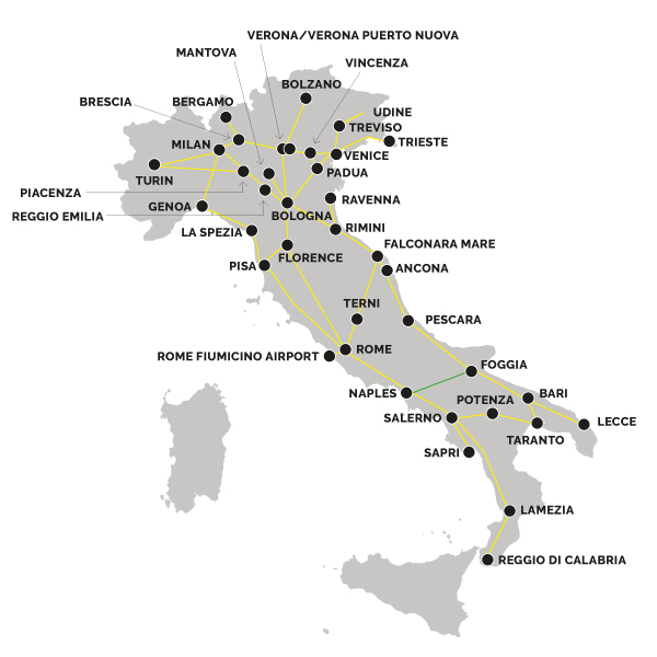 Do You Have A Map Of Train Routes In Italy Italiarail