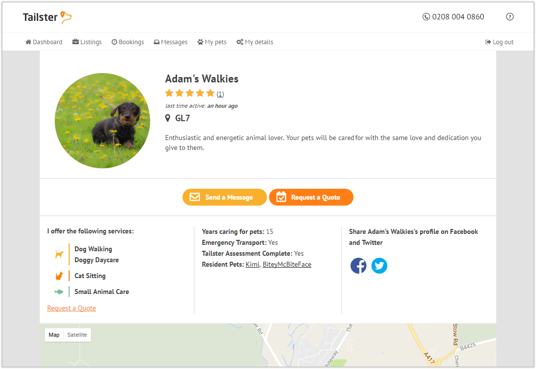 Request For Quote How Do I Request A Quote Direct From A Pet Carer  Tailster