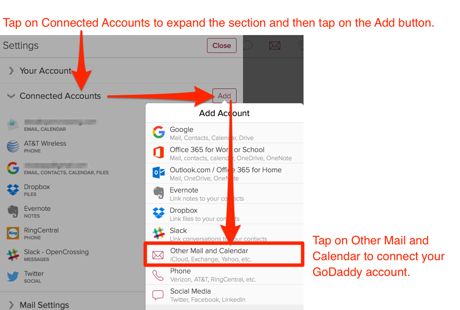 How do I connect a GoDaddy email account? | Cloze, Inc
