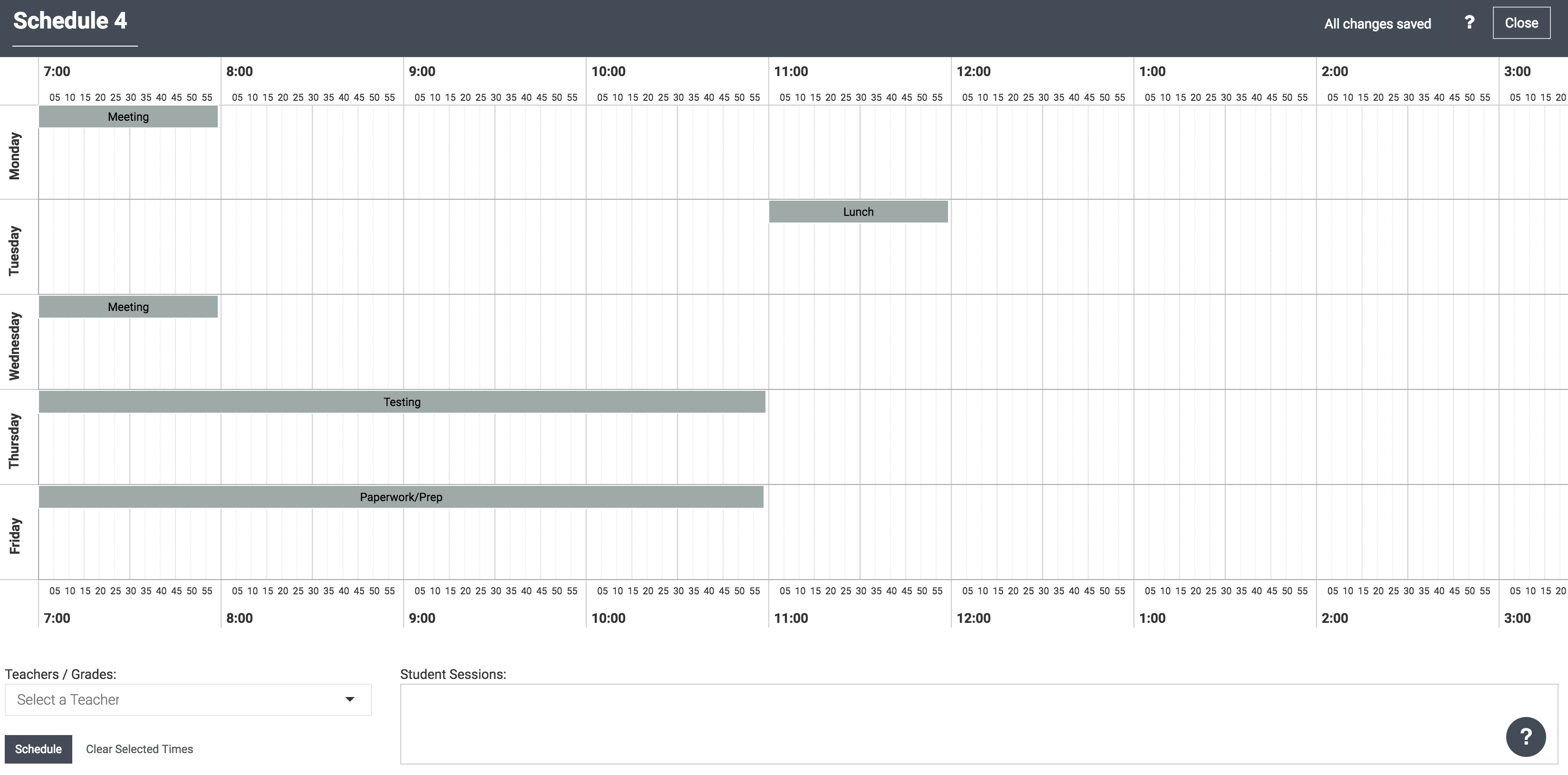 instructions for using the scheduler feature to create a schedule
