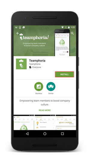 installing free employee recognition mobile app