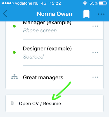 working on candidates mobile apps recruitee