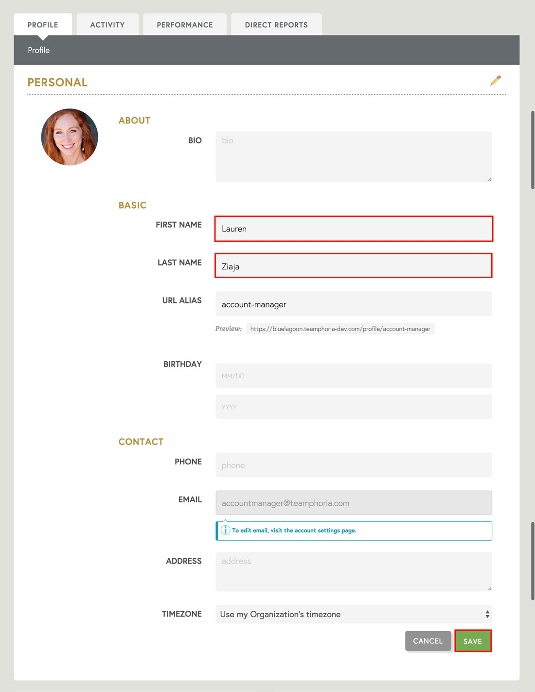 employee recognition software employee profile updates