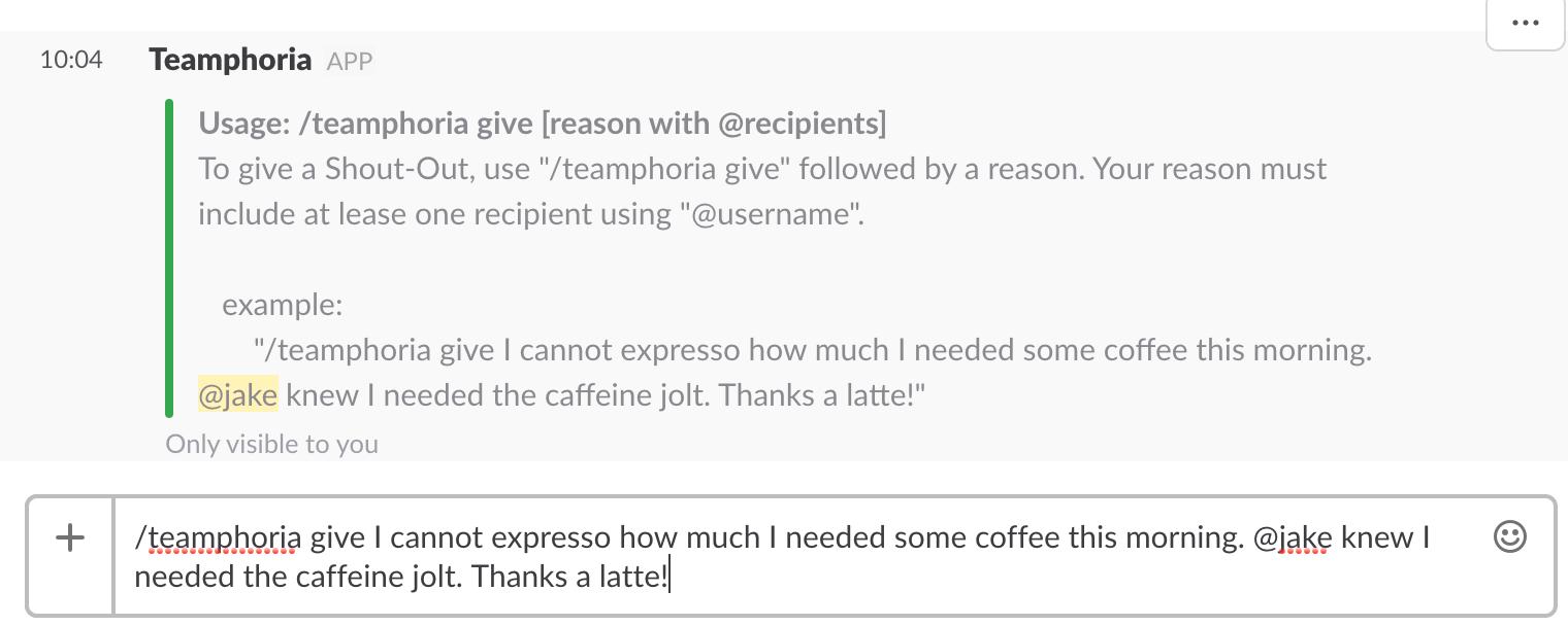 slack integration for employee recognition