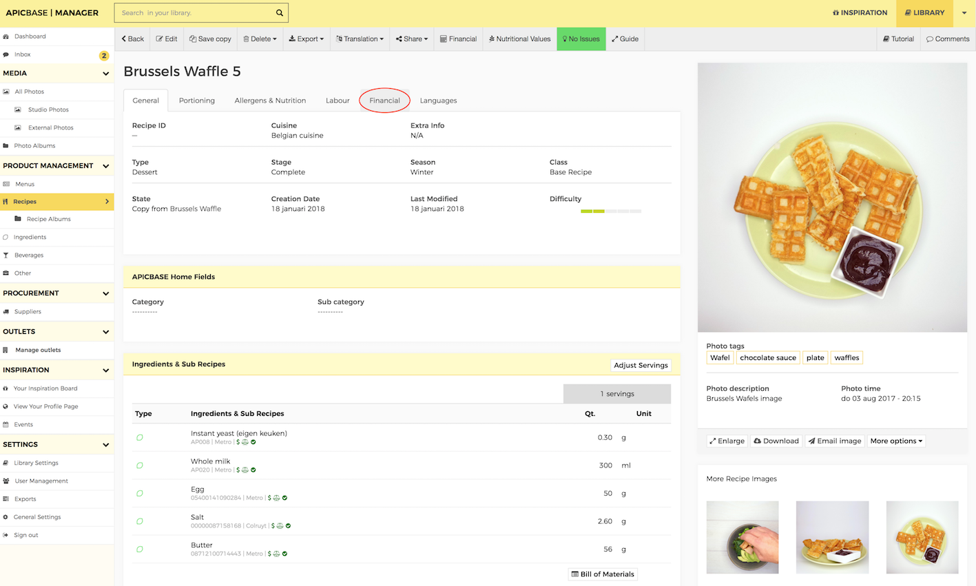 Food cost calculation you will now be redirected to a new tab with financial information about that recipe forumfinder Gallery