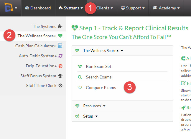 Reports: How do I compare multiple Wellness Score reports