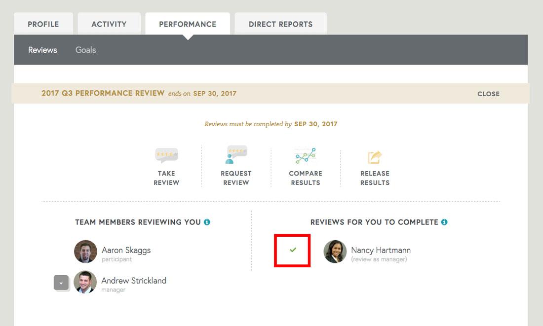 performance management on employee performance profile