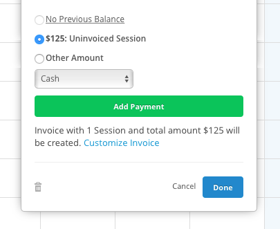 creating invoices simplepractice support