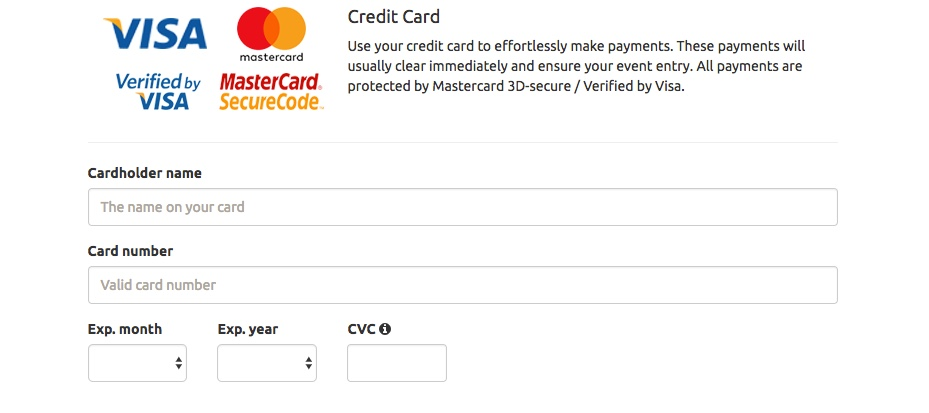 Can I pay via Credit Card?