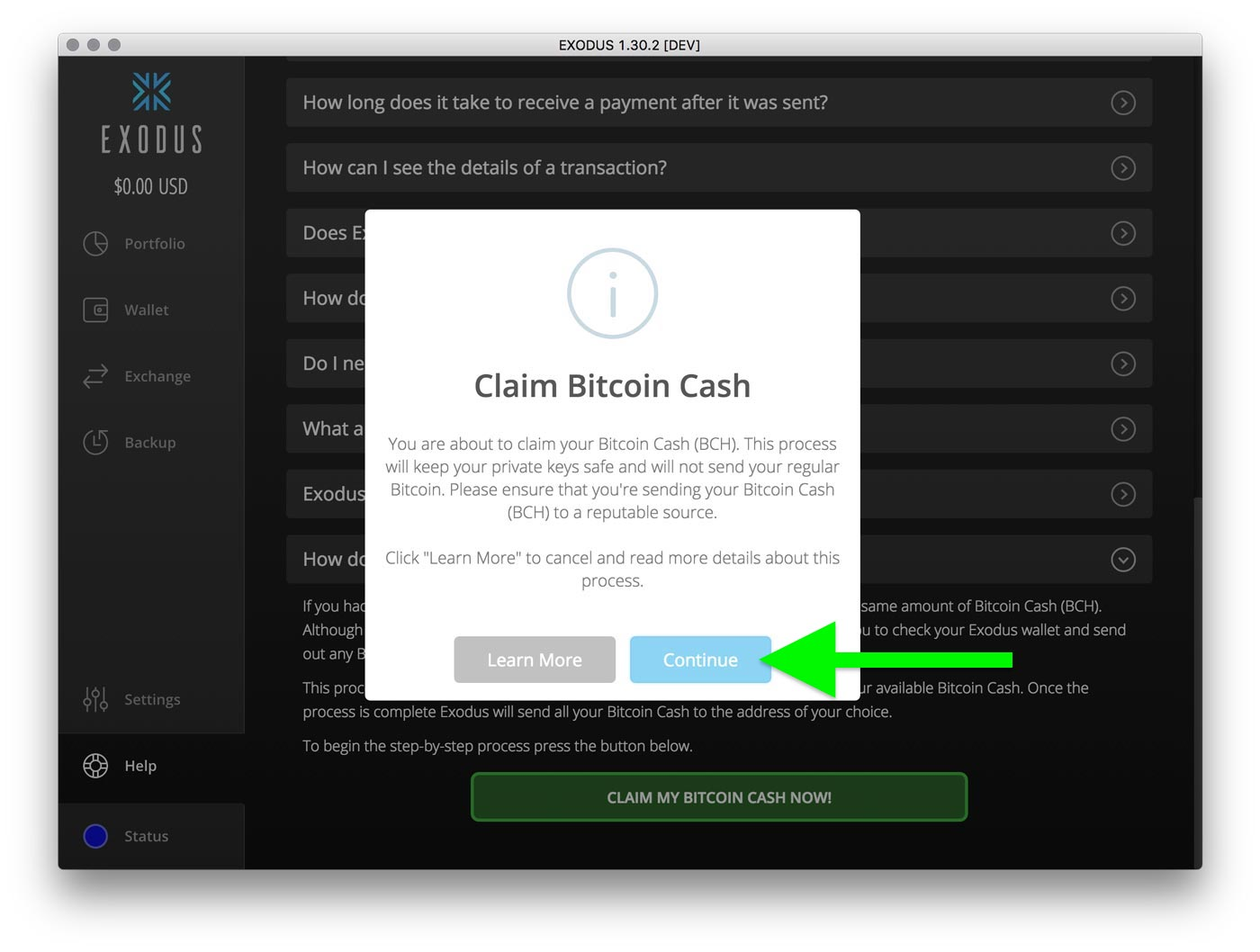 How do i claim bitcoin cash exodus knowledge base step 5 exodus now asks you for your bitcoin cash address to know where you want your bitcoin cash sent if youre updated to exodus 1360 ccuart Image collections