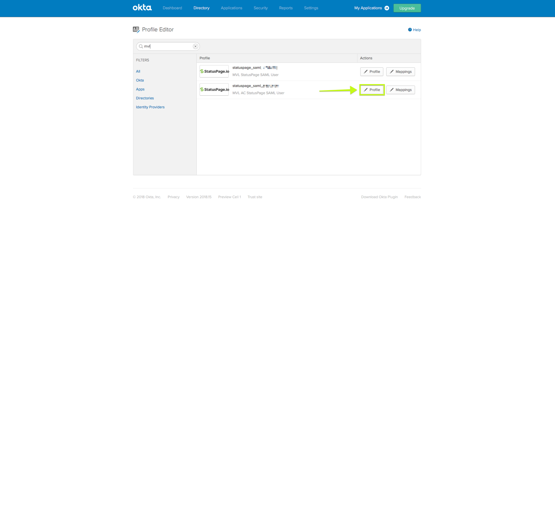 Okta setup for audience-specific users