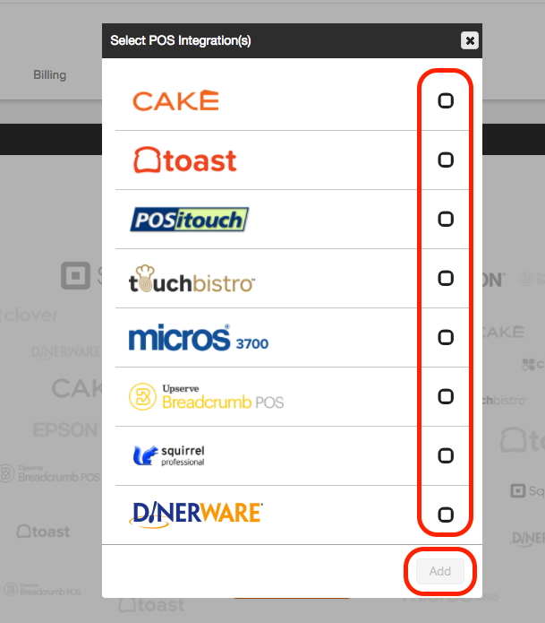 From there simply select Dinerware and click \u0027Add\u0027.  sc 1 st  7shifts Support & Dinerware POS - 7shifts Support