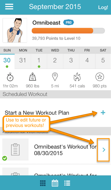 how do i delete sets from the workout logger in the exercise com app