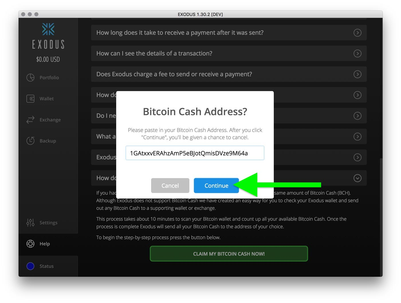 How do i claim bitcoin cash exodus knowledge base step 6 exodus will now check your wallet and count up all your available bitcoin cash to send out depending on how many transactions you have this ccuart Gallery